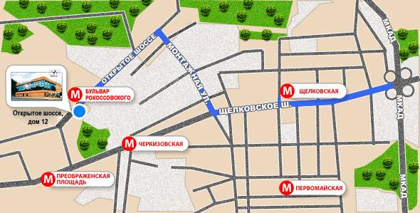 схема проезда от МКАД